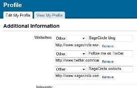 Add Twitter to your LinkedIn profile