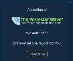 We don't exist according to Forrester